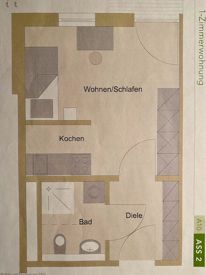 Schönes Apartment zentral in Würzburg
