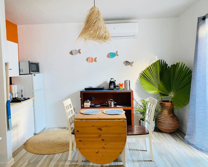 Walk to beach, close to airport, Coastal Boho Apt4
