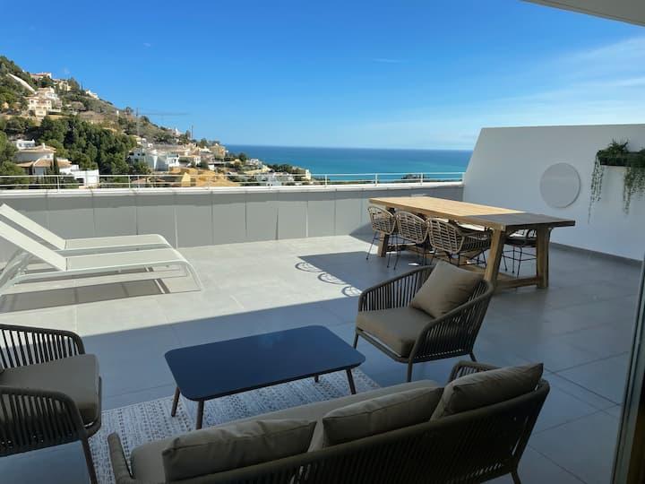 Modern new apartment, big terrace, Altea Hills.