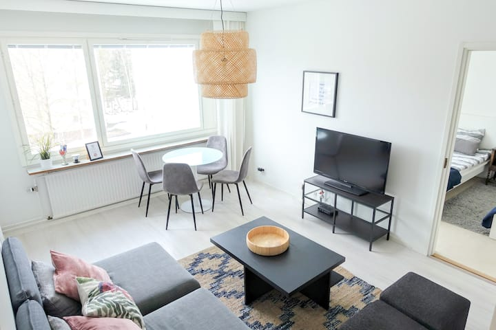 Top floor apartment for max 5 pers