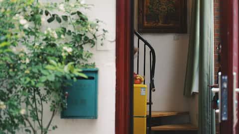 新房特惠  [洋房里] 七里山塘内/独门独院 精致Loft 两床4人/亲子民宿/近地铁2号线