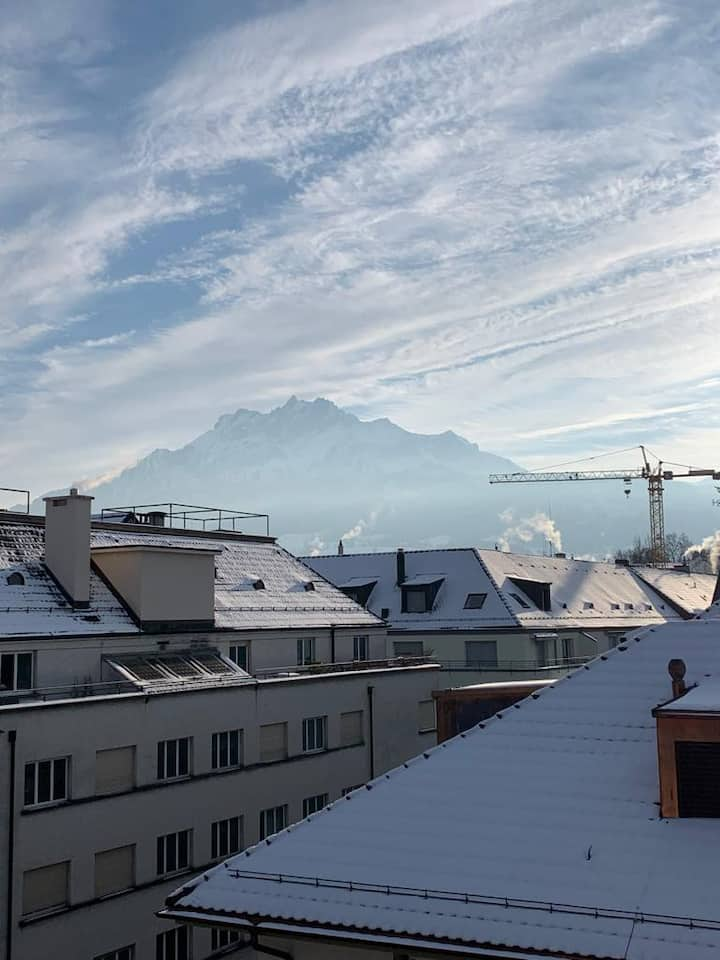 Penthouse - Heart of Lucerne - Mountain View