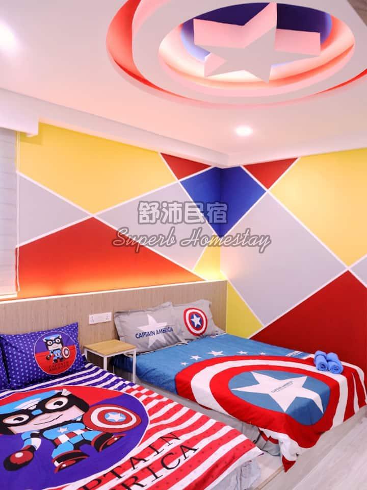 Superb Avengers Theme Sutera Avenue (2BR)