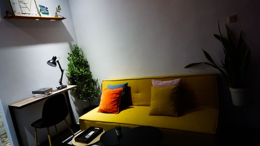 Working table and sofa bed