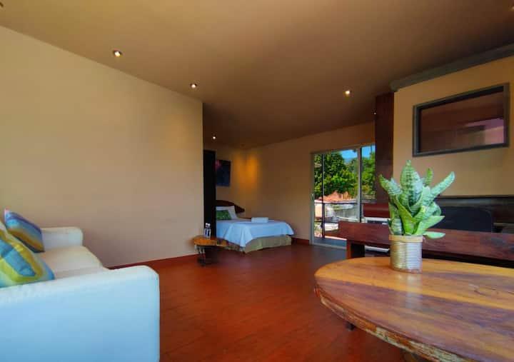Deluxe Studio w/ View to the City @ La Zona Hostel