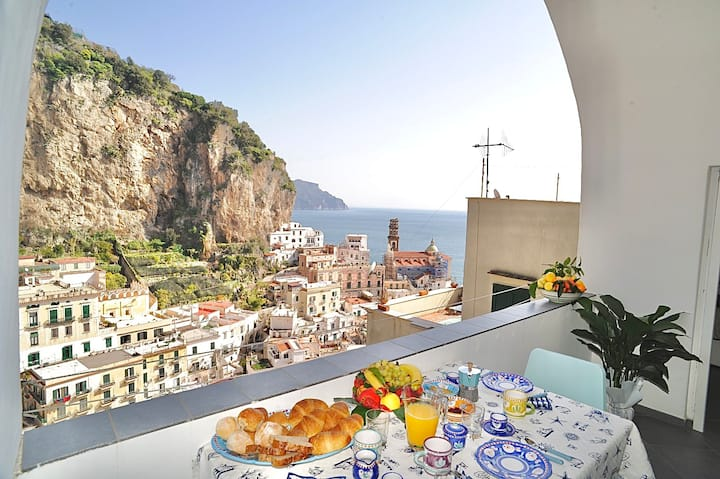 Maika House - costa de Amalfi - vista al mar