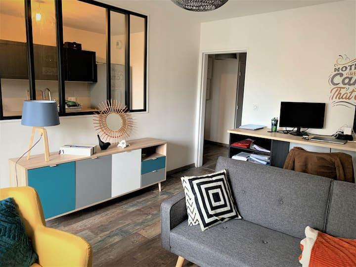 Charmant appartement T2 avec loggia et garage