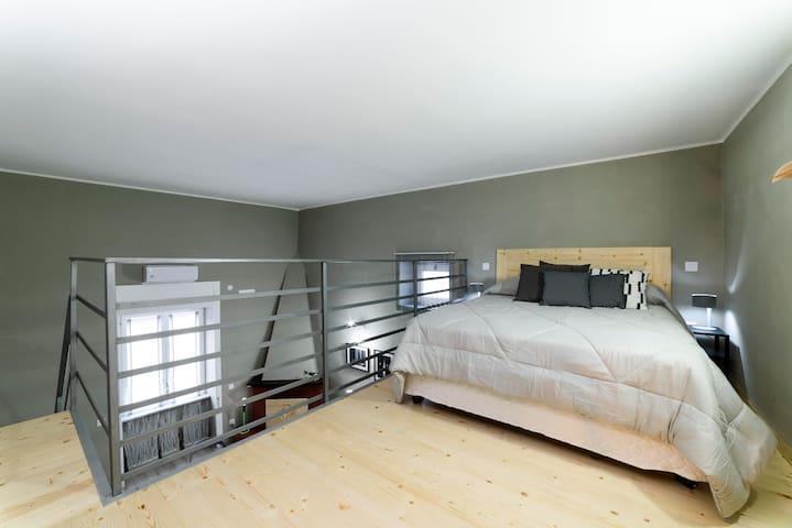 Mezzanine Bedroom with high quality mattress