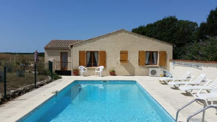 Stand alone Villa with private heated pool.