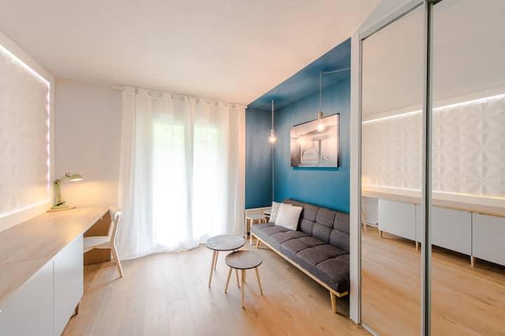 -studio*bord de Loire*Blois*wifi*balcon*