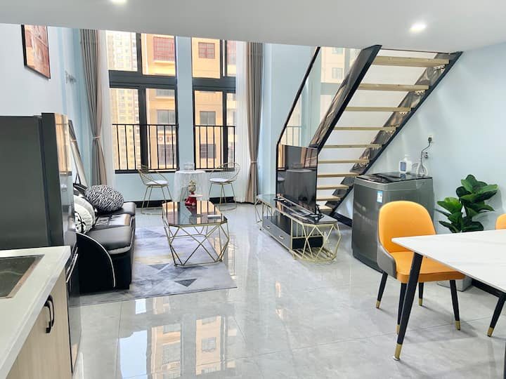 『三只猫』Loft复式公寓  温馨大床房  可做饭