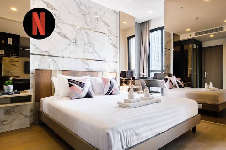 Luxurious Bright 1BR★One&Only SKY Onsen @Silom-MRT