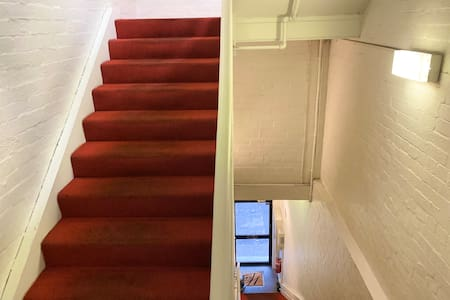 Stairwell to top floor