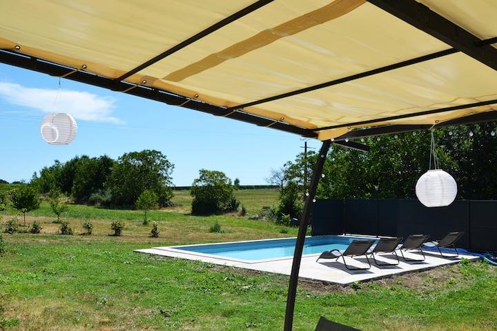 Maison en pierre avec piscine proche Monbazillac