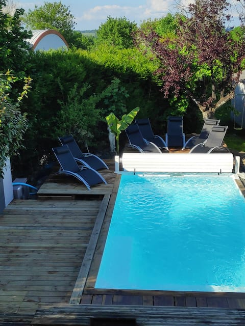Furnished house - Pool - 1 to 6 guests
