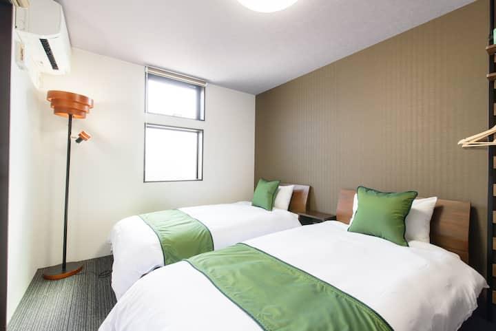 [JP INN Gakurin] 2beds room 10min from Kyoto st