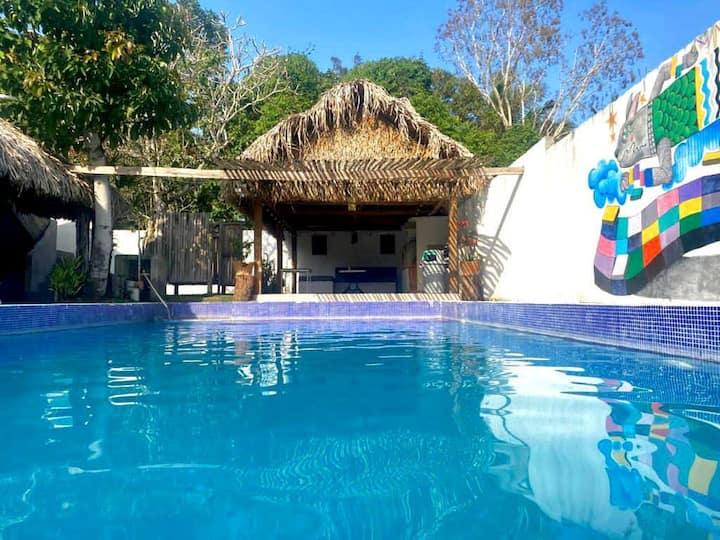 Bungalow / alberca 3 hab completo Costa Esmeralda