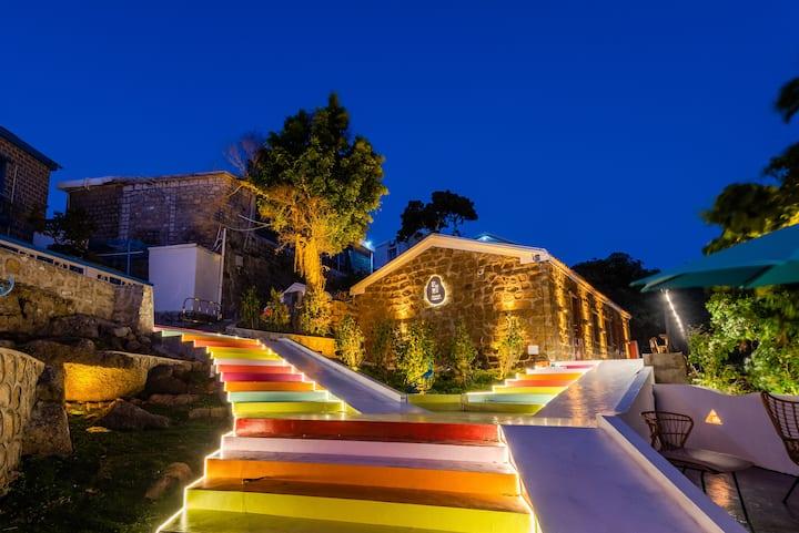 珠海桂山岛/甜蜜情侣套房/360度日出日落观景台/码头免费接送/一室一厅