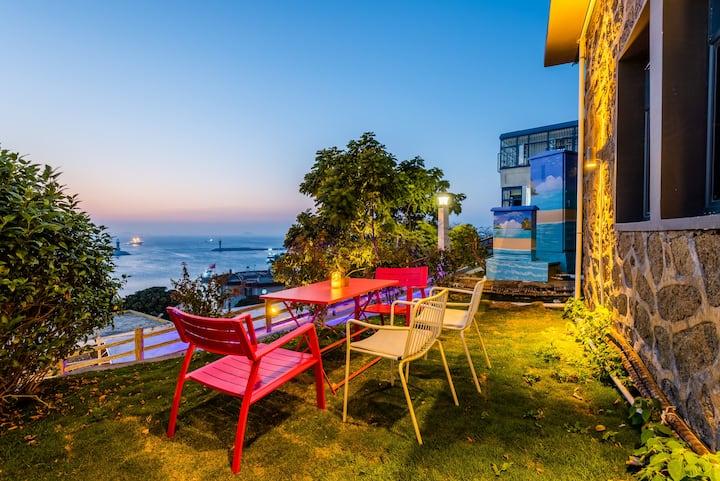 珠海桂山岛/家庭出游/网红日出日落观景台/免费码头接送/四室一厅