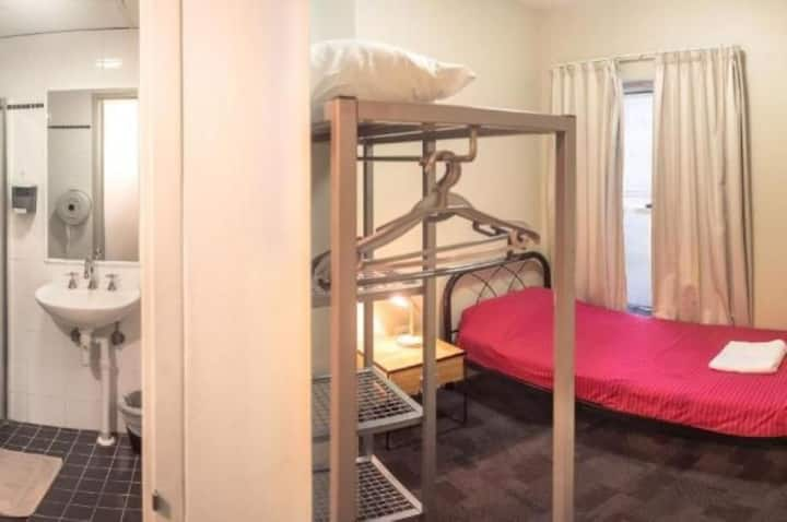Single Hostel Room with Private Bathroom