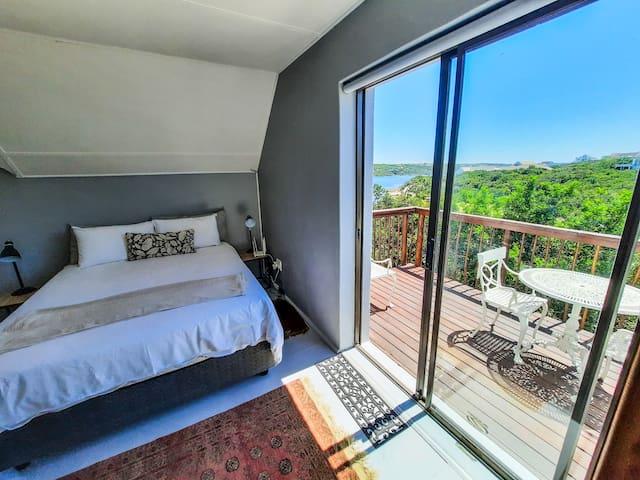 Sliding door from apartment to balcony