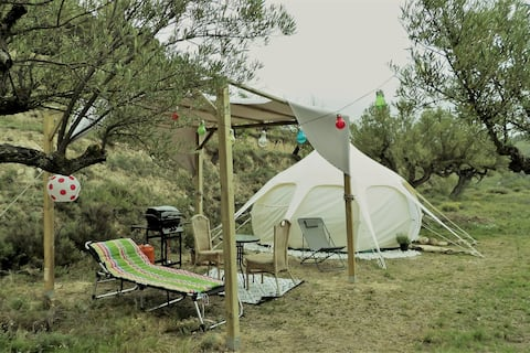 Glamping Tent in Nature with Your Pet