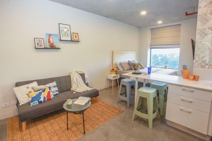 Encantador studio, ideal para relajarse o trabajar