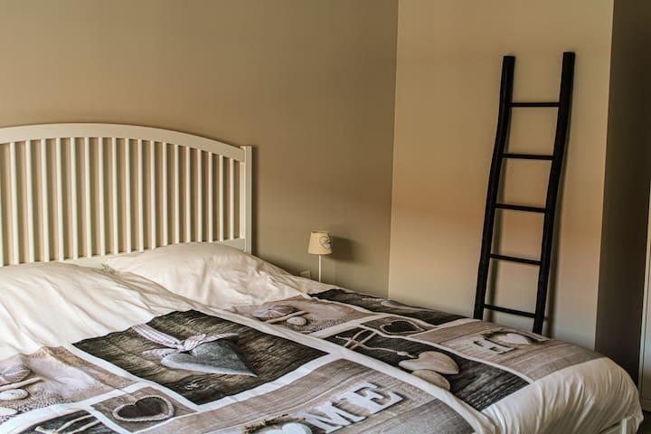 slaapkamer 1  met Kingsize bed