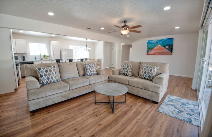 Remodeled Home with Pool Near Airport & Parks