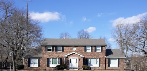 This Large home is 2.5 short miles from campus.
