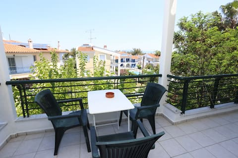Family 2nd Floor Apartment with Balcony and View