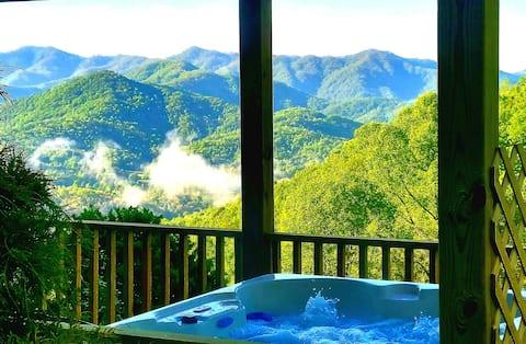 Mtn Top Cabin/Incredible Views/Hot Tub/New Listing