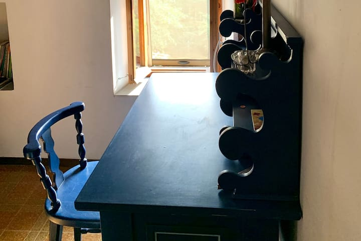 Desk in south bedroom.