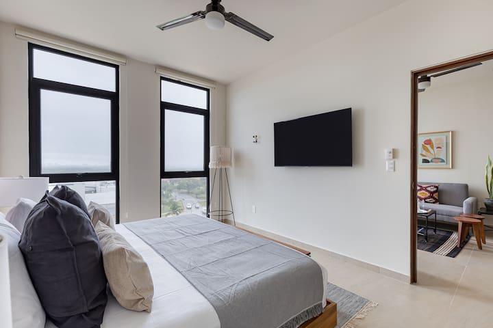 Bedroom. Living room.