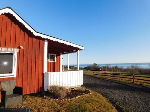 Ferienhaus auf dem Land mit Blick auf das Feuchtgebiet