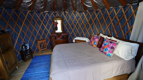 Wonderful 16 ft Yurt with spectacular views.