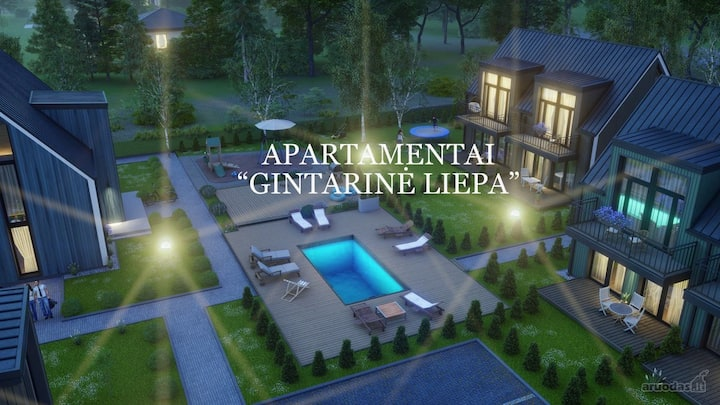 """Apartamentai Kunigiškėse """"Gintarinė Liepa"""""""