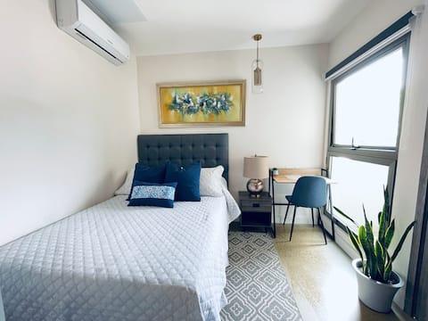 Studio Apartment 1BR - Céntrico y Equipado