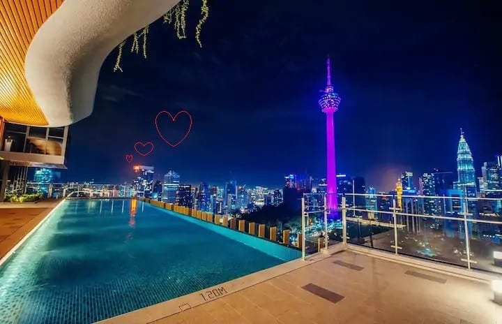 [NEW]Clean | Romantic| Infinity Pool | KL Tower