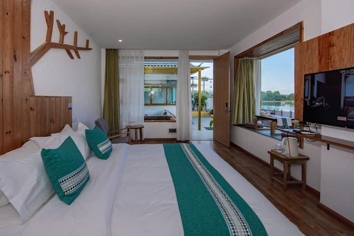 洱海|花筑·大理一苇清舍|海景庭院景观大床房