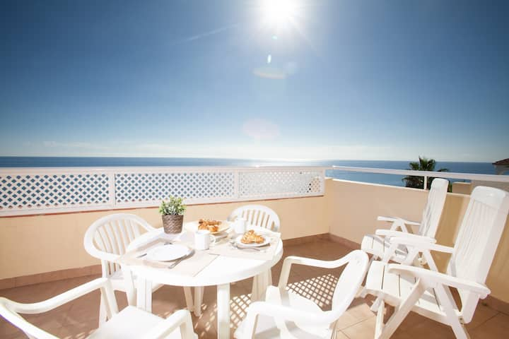 Spacious Mijas Costa Apartment with Sea Views