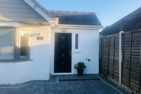 Level access from driveway with extra  wide door for wheelchair access