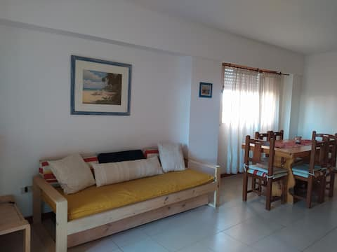 Spacious apartment in Pinamar 1 block from the sea!!