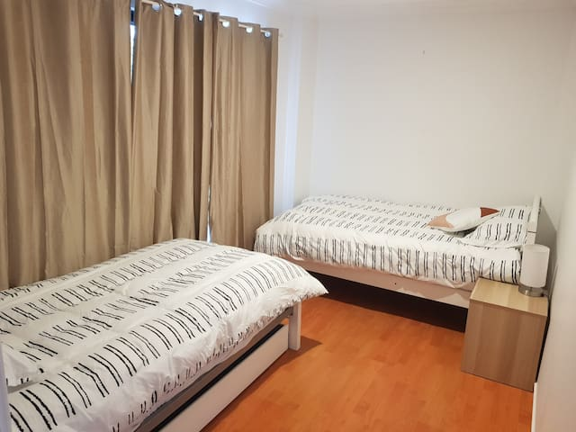Bedroom two- 2 single beds and 1 trundle bed.