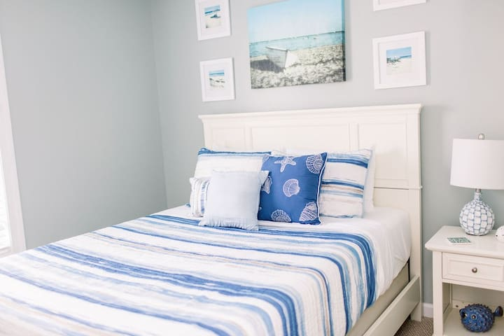 Bedroom One has a queen-size bed