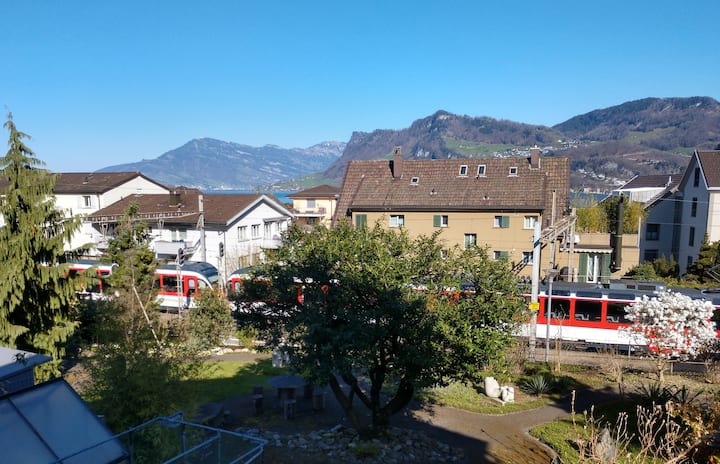 FEWO 15Min. von Luzern, nähe Bahnhof, See, Pilatus