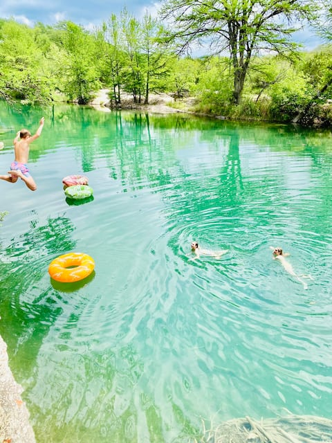 River Terrace Cabin 1 Best Swimming Hole in Texas