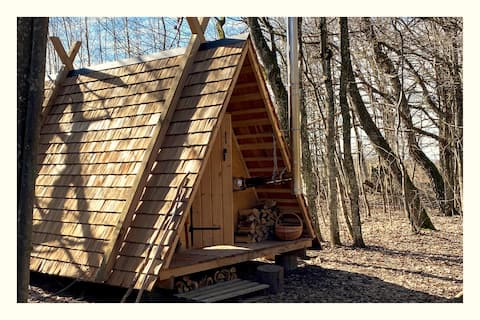 Eco Hut in the woods