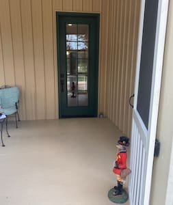 Zero steps from yard to porch inside .  Two well lit zero step entrances .