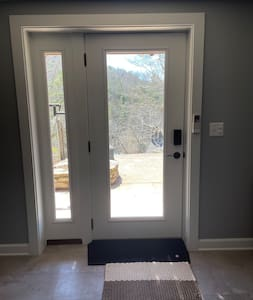 """36"""" entry door with 1"""" rubberized ramp transition."""